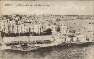 CPA Taranto La Citta vecchia vista dal Corso due Mari ITALY (809335)