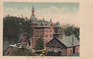 KEENE, New Hampshire, 1900-10s; High School & Armory
