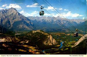Canada - Alberta, Banff. Sulphur Mountain  (Aerial Lift)