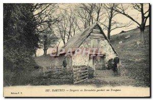 Postcard Old Sheepfold Bartres or Bernadette kept her Flock