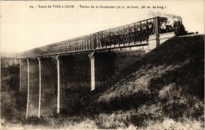 CPA Ligne de VIRE a CAEN - Le Viaduc de la Souleuvre (422318)