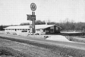 Greensboro North Carolina Diplomat Motel Street View Vintage Postcard K55008