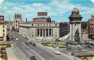 Syracuse New York~Blue Sunoco Sign~Clinton Square~1940s PC