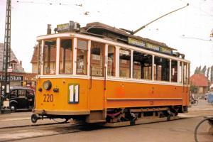 Copenhagen Denmark Postcard, Tram 220 Line 11 Husum Torv 1954-58 79K