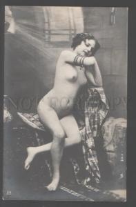 103087 Fernande NUDE Plump Girl BELLY DANCER Vintage PHOTO