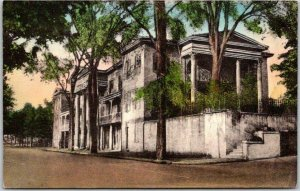Winston-Salem, North Carolina HAND-COLORED Postcard BELO HOUSE Albertype Unused