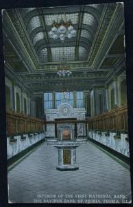 Postcard Used FN Bank Peoria IL LB