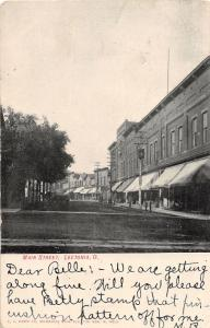 E85/ Leetonia Ohio Postcard Columbiana County 1907 Main Street Stores 24
