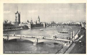 BR18637 Houses of parliamet from the river london   uk
