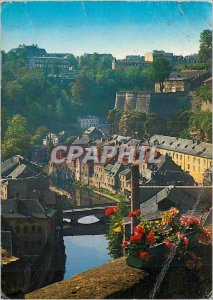 Modern Postcard The Luxembourg Alzette in picturesque Grund
