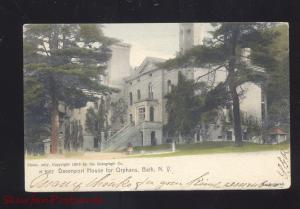 BATH NEW YORK DAVENPORT HOUSE FOR ORPHANS ROTOGRAPH VINTAGE