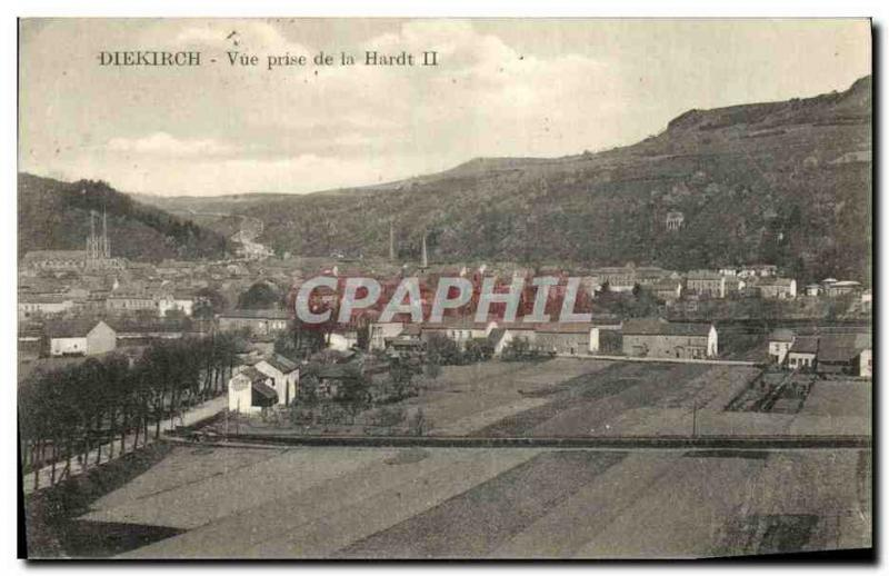 VINTAGE POSTCARD Diekirch Seen from of Hardt