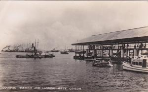 RP: Boats , Harbour & Jetty , COLOMBO , Ceylon , 20-30s