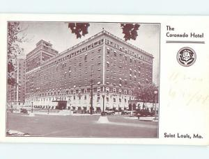 Surface Wear - 1941 CORONADO HOTEL St. Saint Louis Missouri MO Q5248