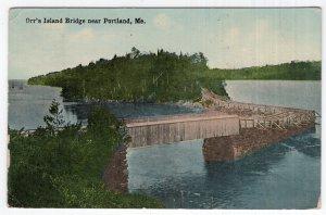 Orr's Island Bridge near Portland, Me.