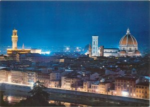 Postcard Italy FIRENZE Panorama - by night