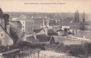 France Chattillon Indre Vue prise de la Place du Marche