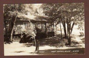 1940 RPPC PARK RAPIDS MINNESOTA*HAMILTON LODGE*MAYSVILLE OKLAHOMA*REV GROVE