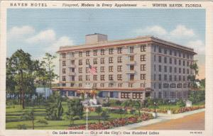 Haven Hotel, Lake Howard, Winter Haven, Florida, 1930-40s