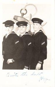 Three US Navy Sailors - Studio Photo