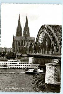 Koln am Rhein mit Dom Germany Vintage 4x6 Photo Postcard E09
