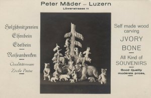 RP: LUZERN , Switzerland , 1910-20s ; Peter Mader Wood Carvings