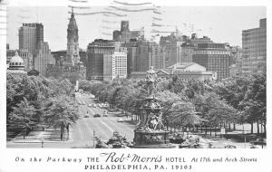 Philadelphia Pennsylvania~The Rob Morris Hotel~1965 Postcard