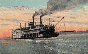 BURLINGTON , Iowa, 1911 ; Steamer QUINCY