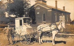 Dalton OH R.F.D. #3 Mail Carrier Horse & Wagon 1909 RPPC Postcard