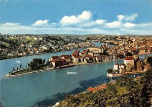 Die Drei Fluesse Stadt Passau Inn Donau Ilz Gesamtansicht