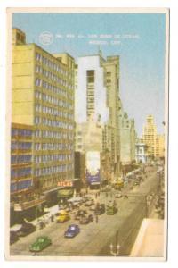 Mexico City Calle San Juan de Letran Vintage 1952 Postcard