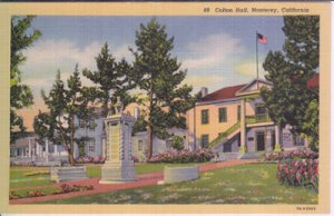 COLTON HALL - View of the first California Capitol Building from front, 1940s