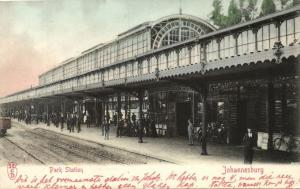 south africa, JOHANNESBURG, Park Railway Station (1899)