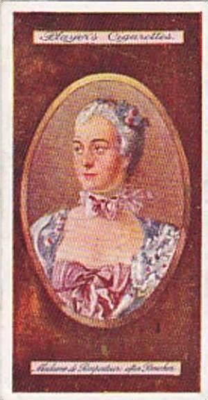 Players Vintage Cigarette Card Miniatures No 4 Madame De Pompadour  1923