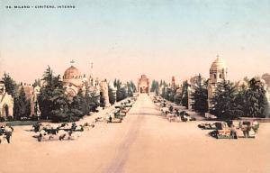 Italy Old Vintage Antique Post Card Milano Cimitero, Interno Unused