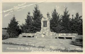 Hinckley Minnesota~Memorial to 400 Victims~Great Forest Fire~Pageant~1954 RPPC
