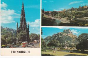 Post Card Scotland EDINBURGH 3 views
