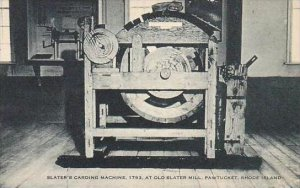 Rhode Island Pawtucket Slaters Carding Machine 1793 At Old Slater Mill Artvue