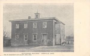 E64/ Leesville Ohio Postcard Carroll County c1910 Old School Building 4
