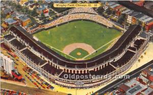 Wrigley Field, Home of the Chicago Cubs Chicago, Illinois, IL, USA 1957