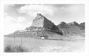 F56/ Scottsbluff Nebraska RPPC Postcard c30s Museum Mitchell Pass
