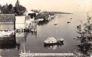 Real Photo Hackets Cove Peggy's Nova Scotia Canada Antique Postcard L2635