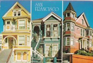 California San Francisco Beautiful Victorian Architecture 1992