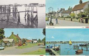 Walberswick Bicycles Boats 1970s Sailing 4x Suffolk Postcard s