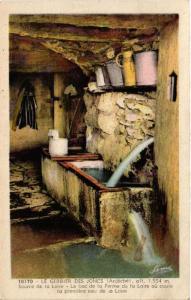 CPA Le GERBIER-des-JONCS Source de la Loire - Le bac de la Ferme (398791)