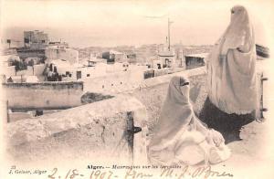 Alger Egypt, Egypte, Africa Mauresquews sur les terrasses Alger Mauresquews s...