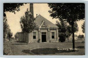 Quincy MI-Michigan, Water Works, Vintage Postcard
