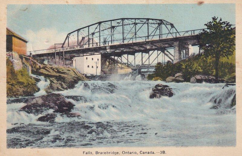 ONTARIO, Canada, PU-1939; Falls, Bracebridge