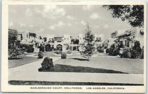 Hollywood, California Postcard MARLBOROUGH COURT Apartments Sohmer c1920s
