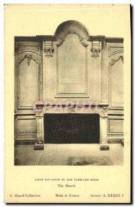 Old Postcard Louis XIV Louis XV Oak Paneled Room The manule